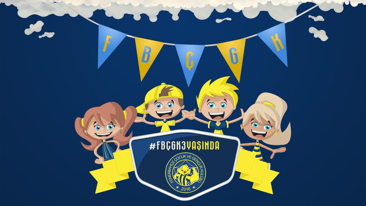 Fenerbahçe Çocuk ve Gençlik Kulübü, 3. yaşını büyük bir organizasyonla kutlayacak