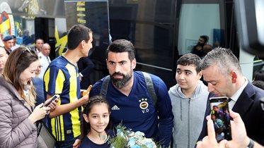 Fenerbahçemize Alanya'da coşkulu karşılama