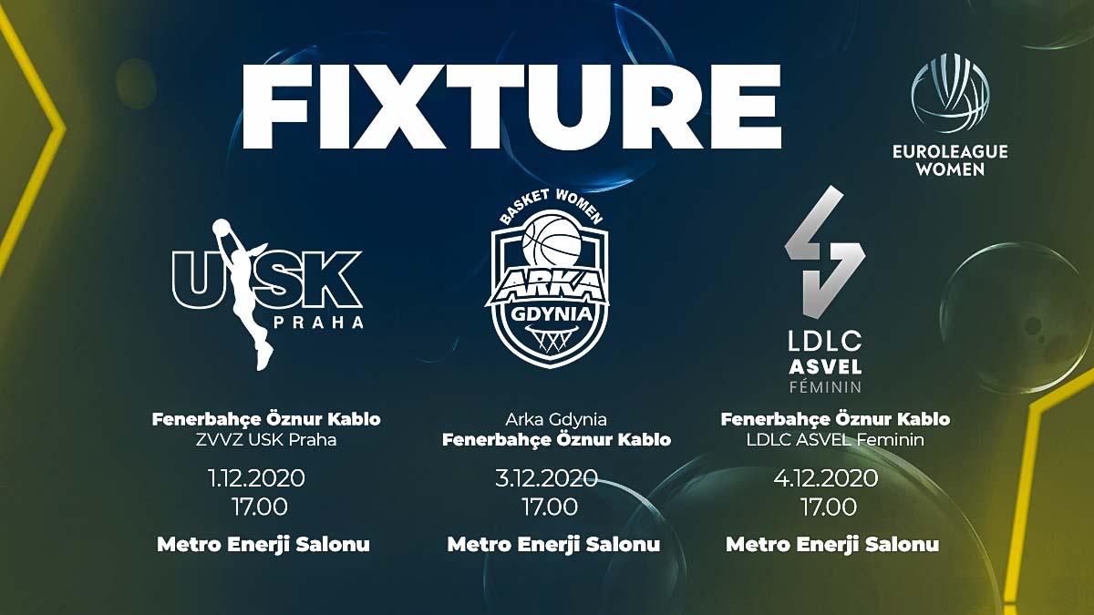 Fenerbahçe Öznur Kablo'nun İstanbul'da oynayacağı EuroLeague Women maçlarının programı belli oldu