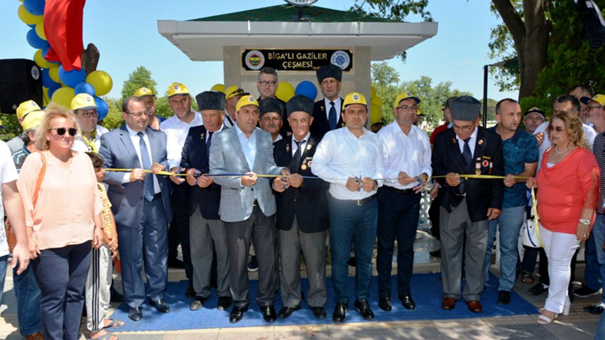 Biga Fenerbahçeliler Derneği'nden anlamlı günde anlamlı açılış