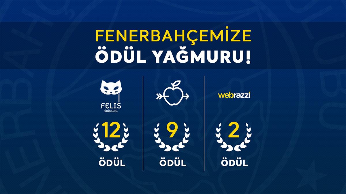 FENERBAHÇEMİZE ÖDÜL YAĞMURU!