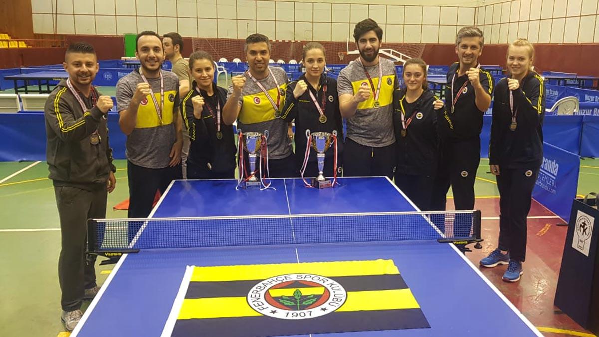Fenerbahçe Kadın ve Erkek Masa Tenisi Takımlarımızdan çifte şampiyonluk