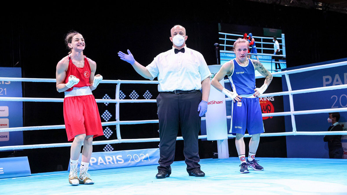 Olimpik boksörümüz Buse Naz Çakıroğlu, Olimpiyat elemelerinde altın madalya kazandı