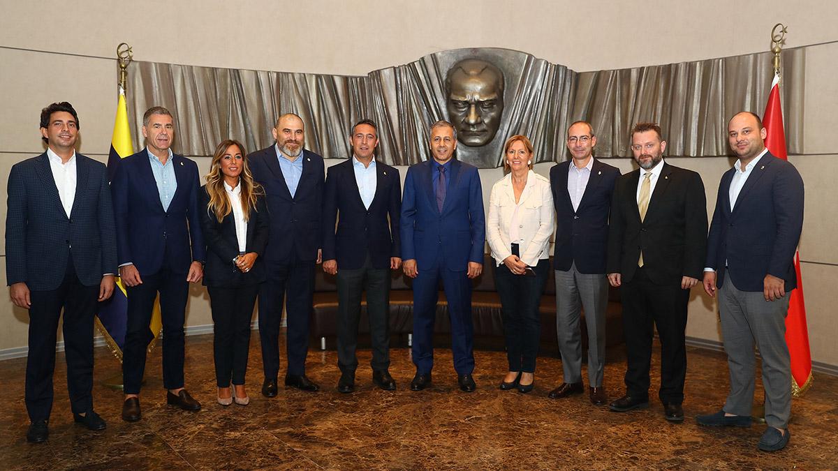 İstanbul Valisi Ali Yerlikaya'dan Başkanımız Ali Koç'a ziyaret
