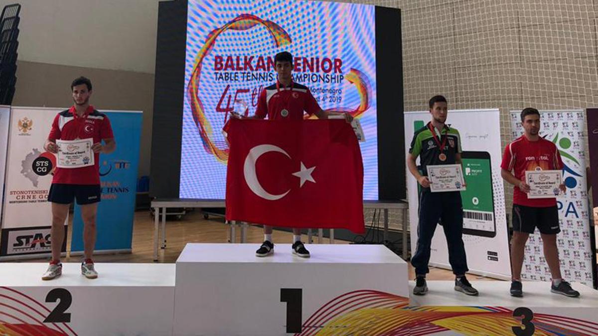 Türkiye Masa Tenisinde takım halinde Balkan Şampiyonu oldu