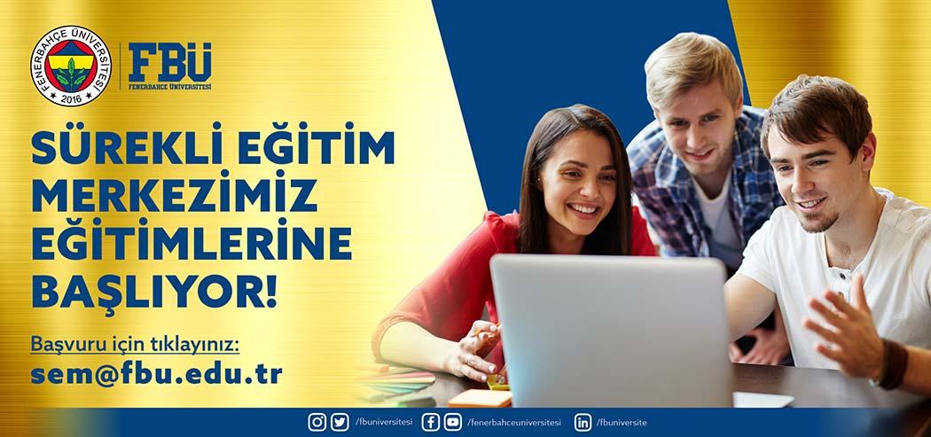Fenerbahçe Üniversitesi Sürekli Eğitim, Uygulama ve Araştırma Merkezi eğitimlere başladı