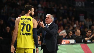 Başantrenörümüz Zeljko Obradovic ve Luigi Datome'nin maç önü görüşleri