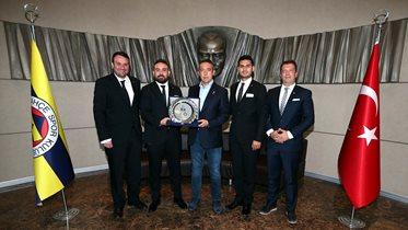 Altay Spor Kulübü Başkanı Özgür Ekmekçioğlu Başkanımız Ali Koç'u ziyaret etti