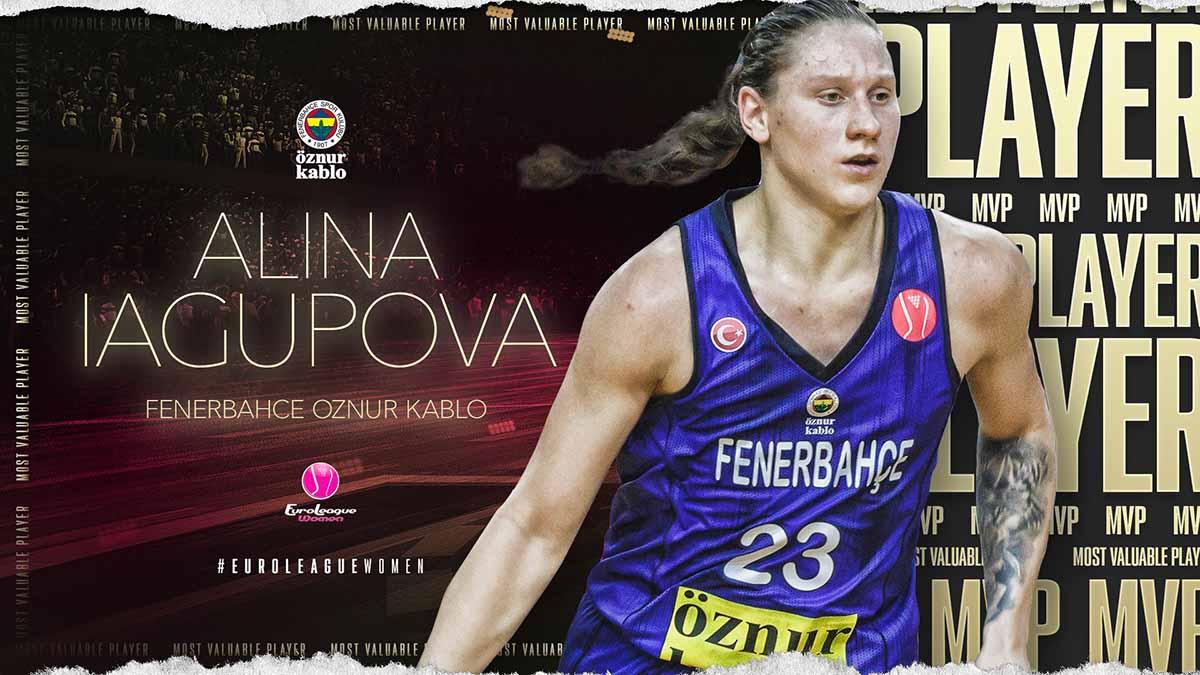 EuroLeague Women'da 2019-2020 sezonunun MVP'si Alina Iagupova oldu