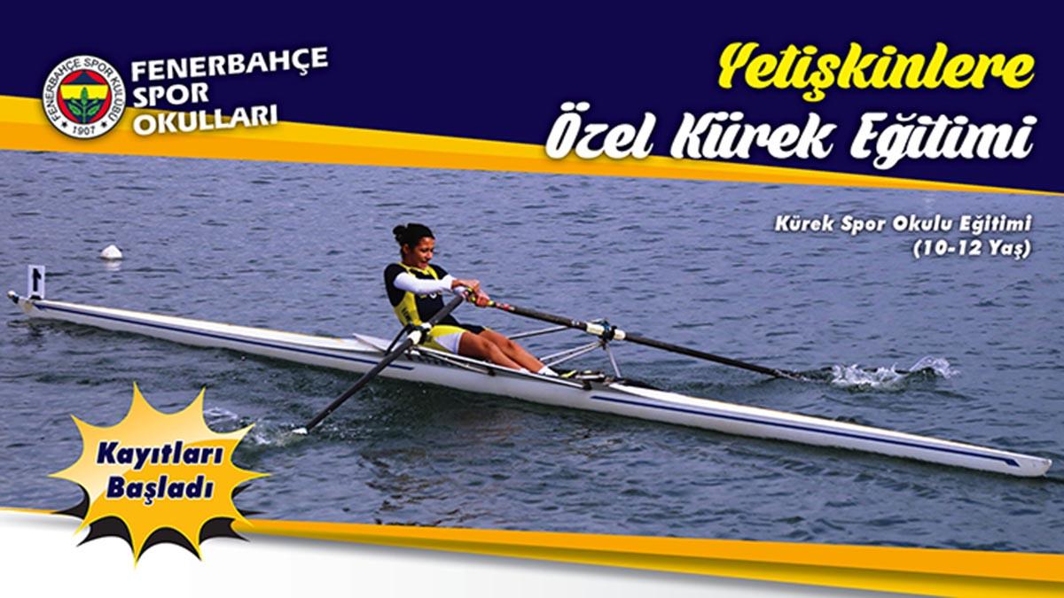 Fenerbahçe Spor Okulları'nda kürek eğitimi başlıyor