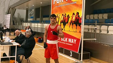 Serhat Güler'den İpek Yolu Boks Turnuvası'nda bronz madalya