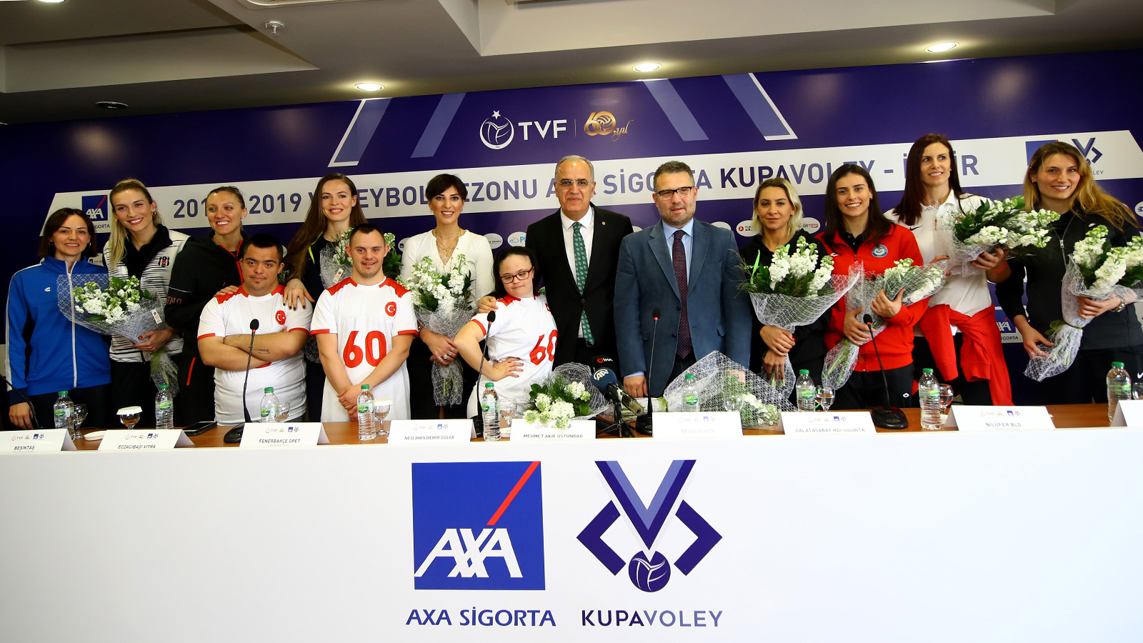 AXA Sigorta Kupa Voley kadın final etabı basın toplantısı gerçekleşti