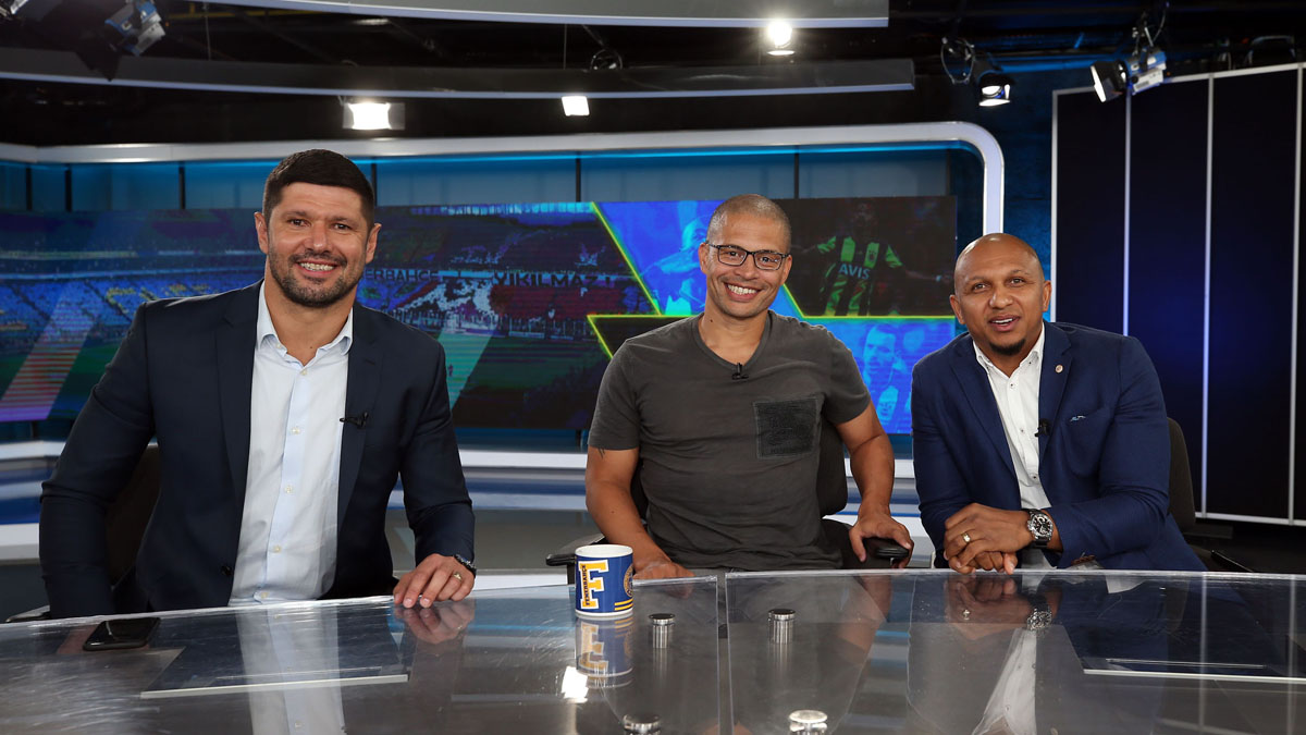 Brezilyalı eski futbolcularımız derbi öncesi FBTV'de bir araya geldi