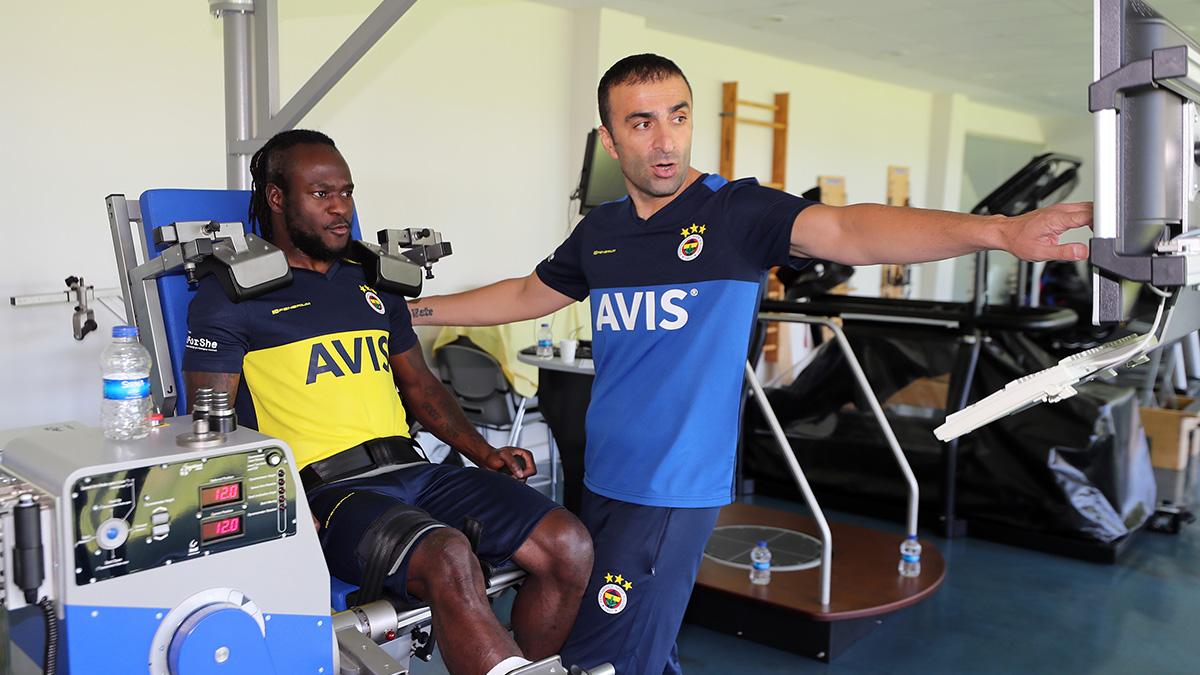 Futbolcularımıza kuvvet testleri uygulandı