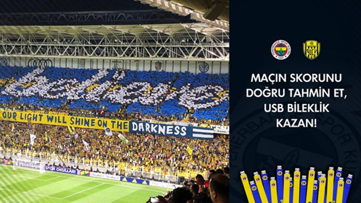 Fenerbahçe-MKE Ankaragücü maçı skorunu tahmin et, sarı lacivert bileklik kazan!