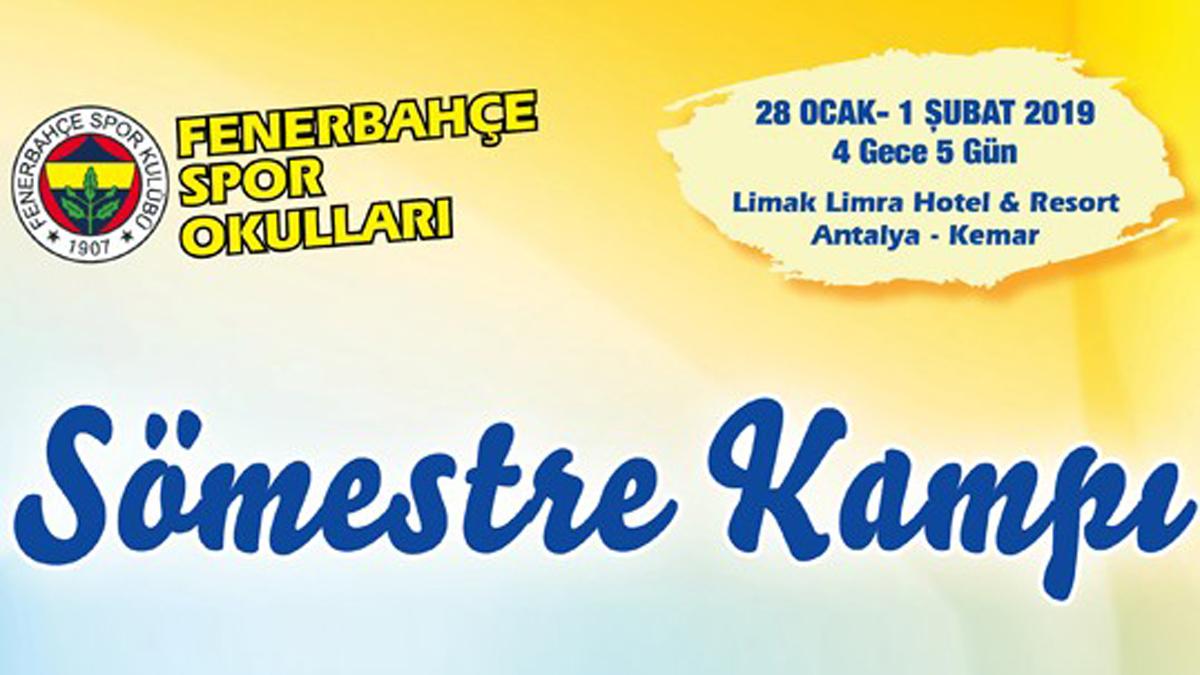Fenerbahçe Spor Okulları Antalya Sömestre Kampı Kayıtları Başladı