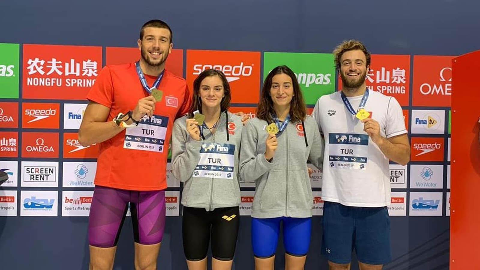 Milli yüzücülerimiz Dünya Kupası Yüzme Şampiyonası'nda bronz madalya kazandı