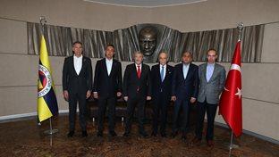 İstanbul Emniyet Müdürü Mustafa Çalışkan Başkanımız Ali Koç'u ziyaret etti