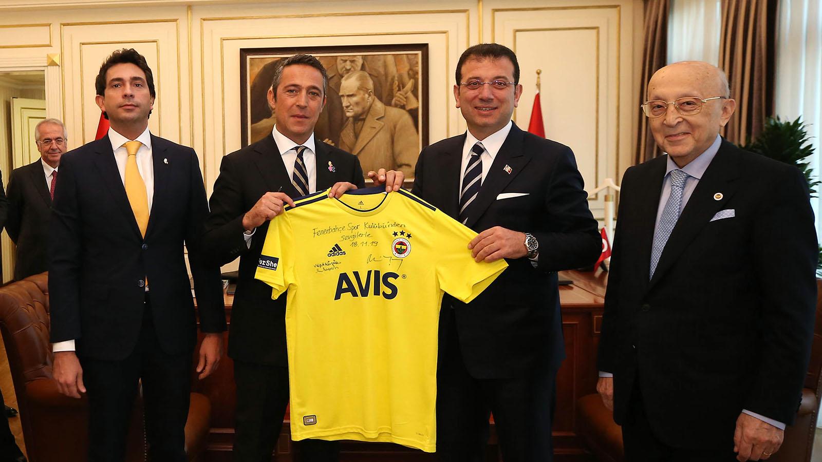 Başkanımız Ali Koç ve yöneticilerimiz, İBB Başkanı Ekrem İmamoğlu'nu ziyaret etti