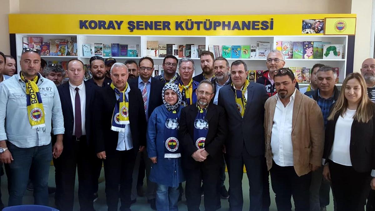 Bodrum Fenerbahçeliler Derneğimiz, Koray Şener anısına kütüphane açtı