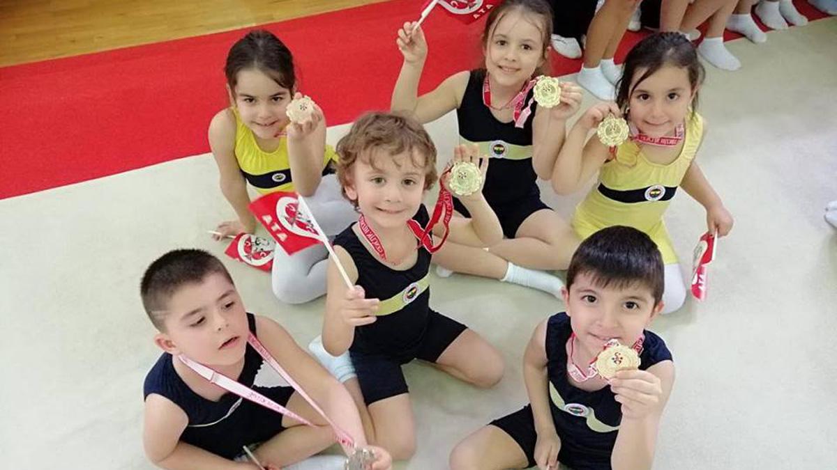 Minik cimnastikçilerimiz Cimnastik Şenliği'nden mutlu ayrıldı