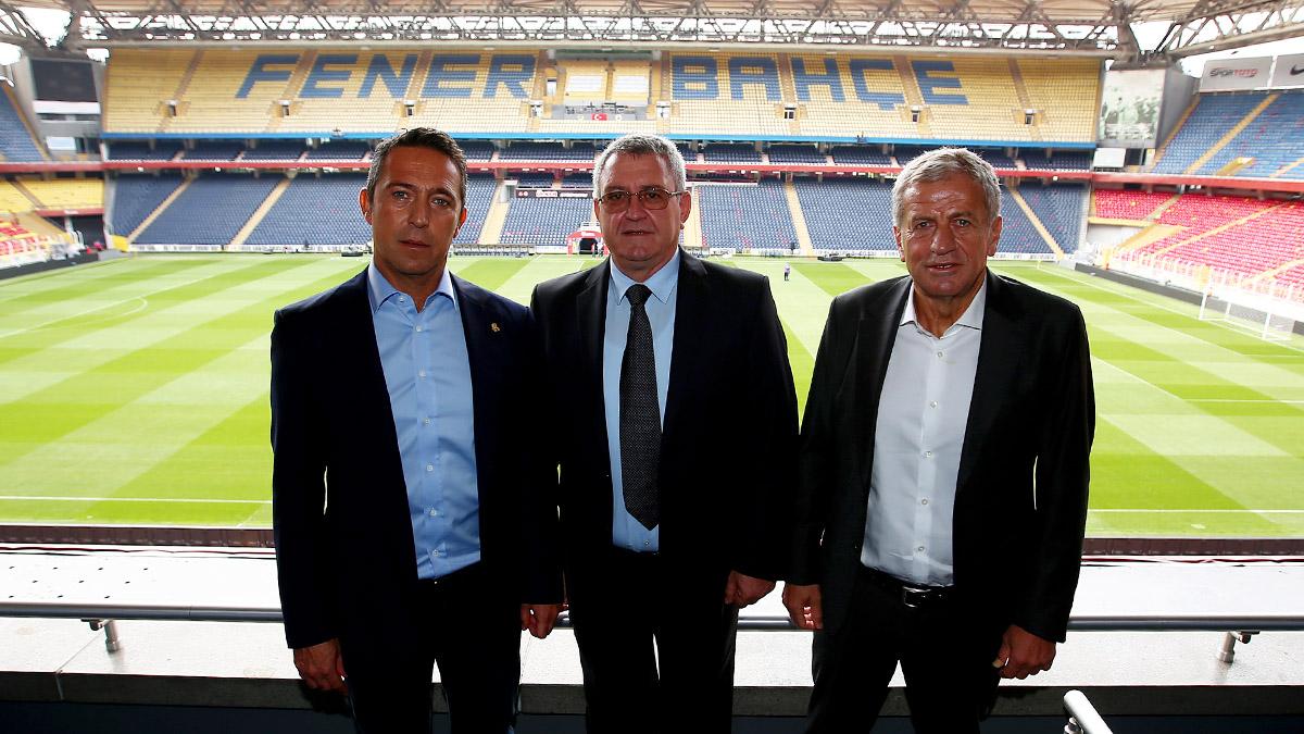 Arnavutluk Futbol Federasyonu Başkanı Duka ve TFF 1. Başkan Vekili Yardımcı, Başkanımızı ziyaret etti