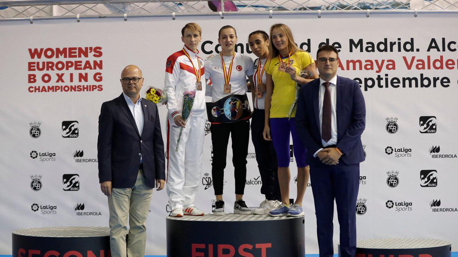 Milli boksörümüz Buse Naz Çakıroğlu Avrupa Şampiyonu oldu