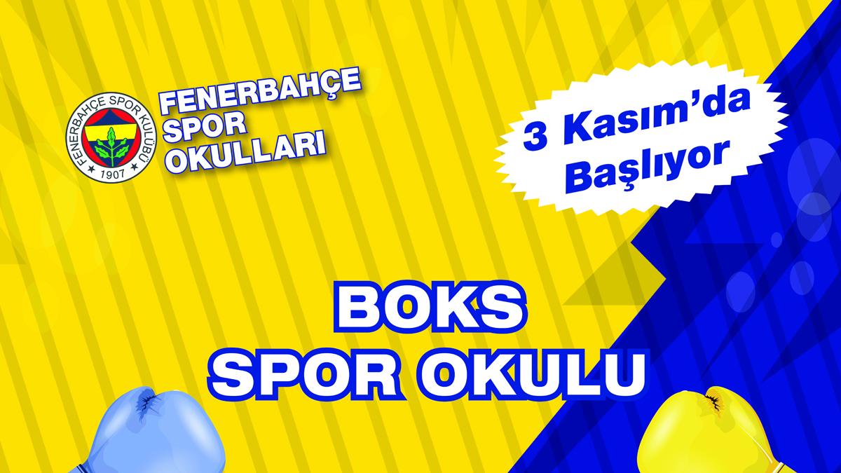 Fenerbahçe Spor Okulları'nda boks çalışmaları başlıyor