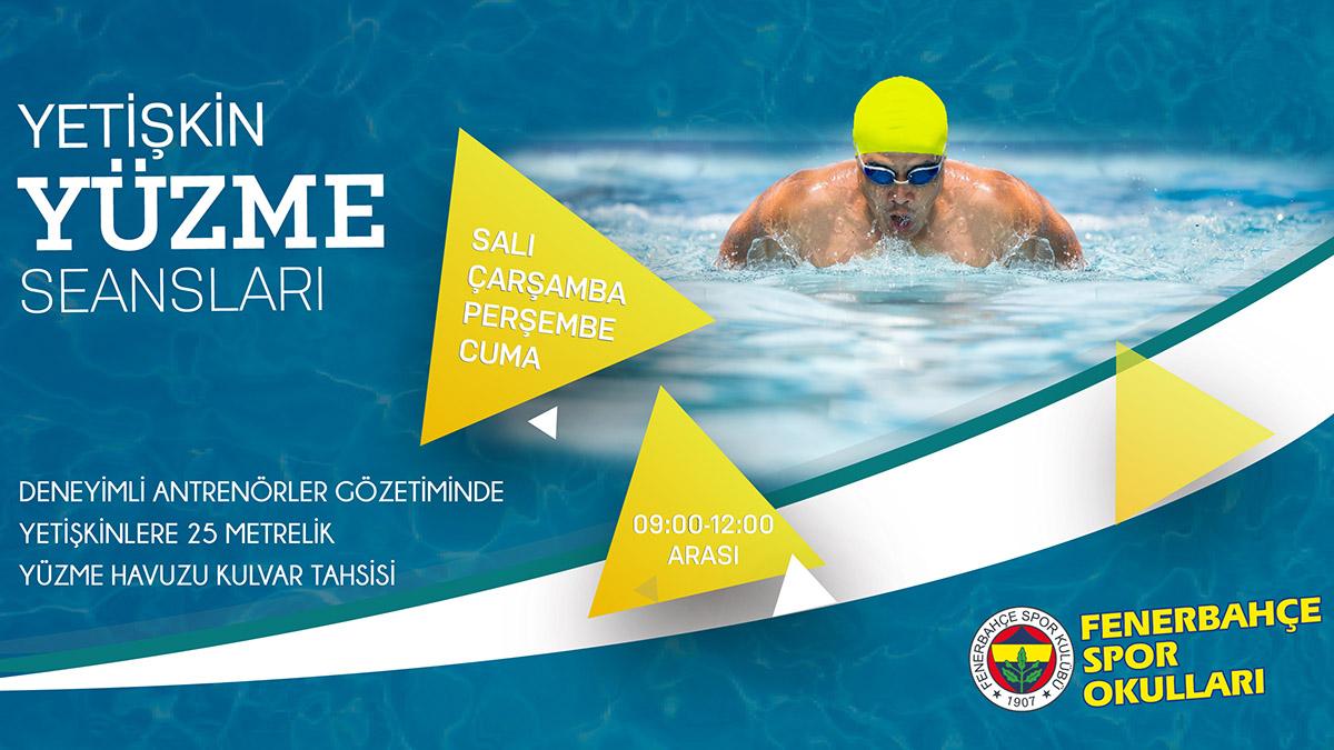 Fenerbahçe Spor Okulları yüzme yetişkin seans programında kayıtlar devam ediyor