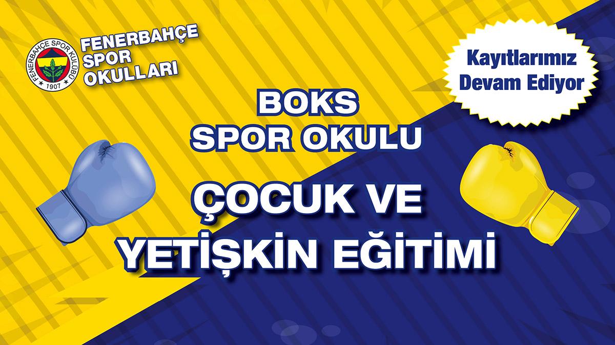 Fenerbahçe Boks Spor Okulu'nda çocuk ve yetişkin eğitimleri