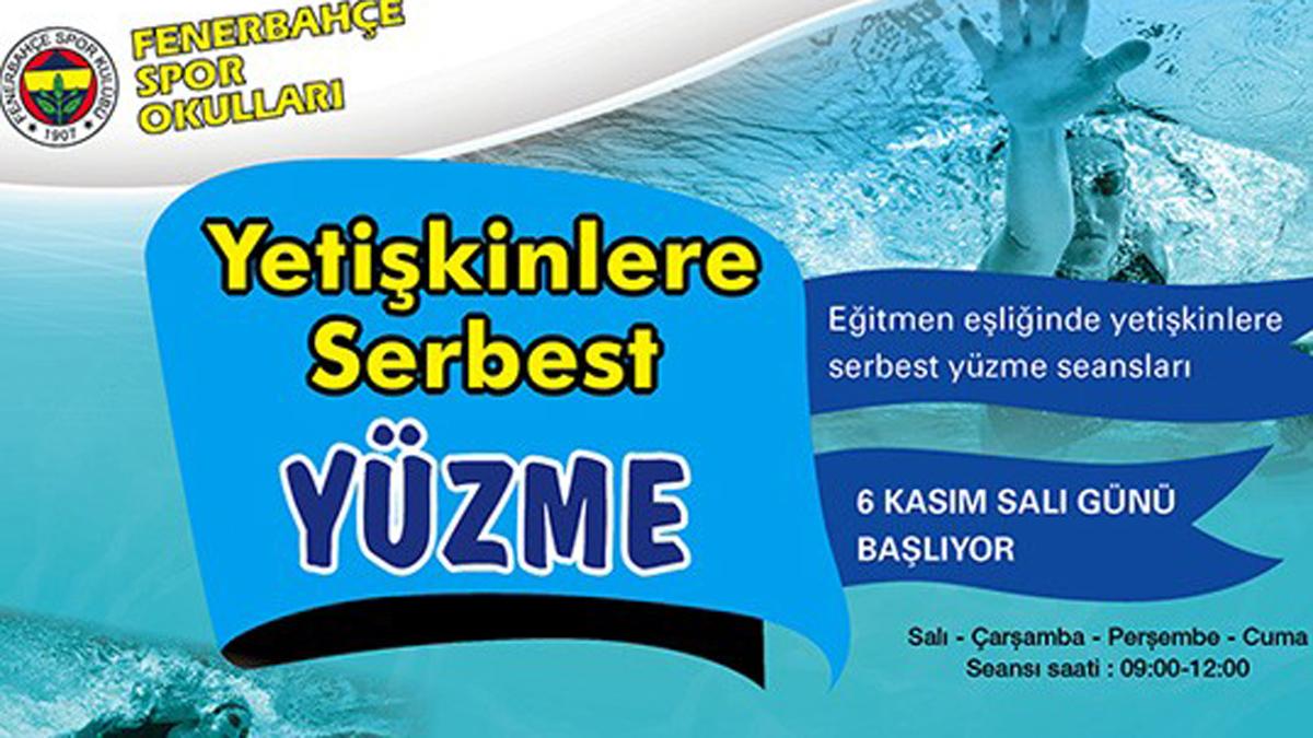 Fenerbahçe Spor Okullarında Yetişkin Yüzme Seansları Başladı