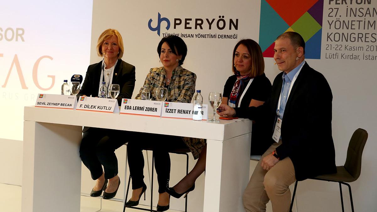 """Yöneticimiz Sevil Zeynep Becan, """"Peryön 27. İnsan Yönetimi Kongresi""""ne katıldı"""