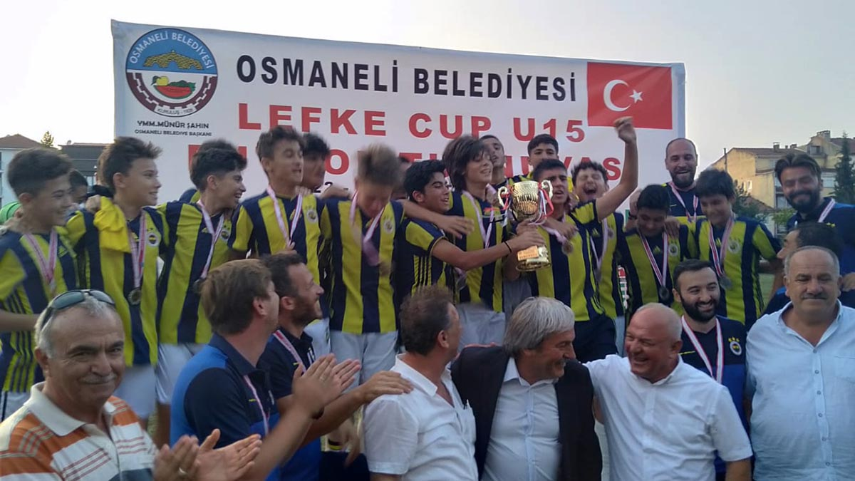U15 Takımımız 2019 Lefke Cup U15 Futbol Turnuvası'nda şampiyon oldu