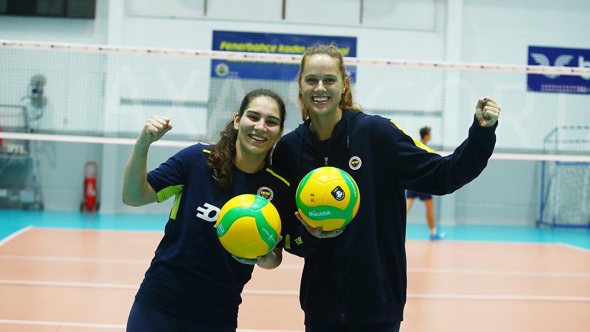 Aylin Sarıoğlu ve Kelsey Robinson'un Budowlani Lodz maçı öncesi açıklamaları