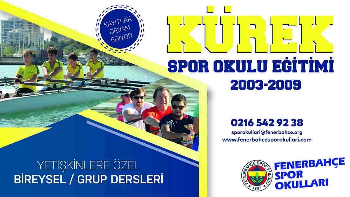Fenerbahçe Spor Okulları'nda kürek eğitimleri devam ediyor