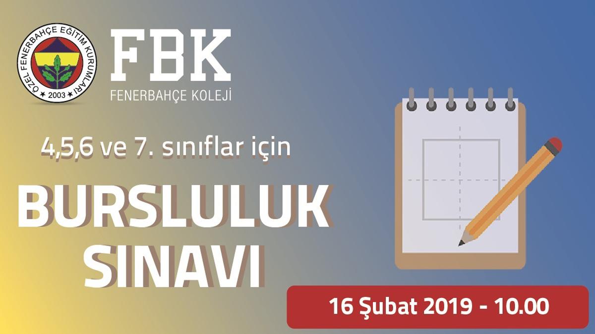 Fenerbahçe Koleji Bursluluk Sınavı duyurusu