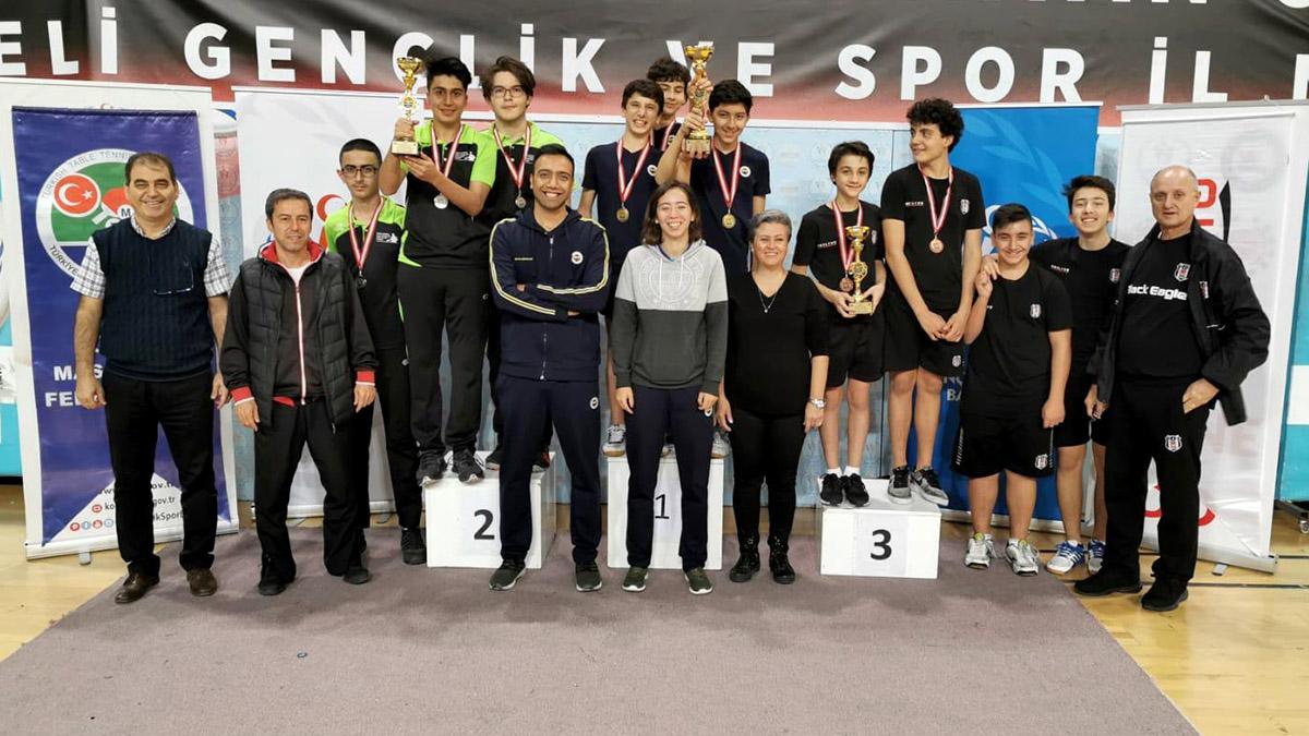 Yıldız Erkek Masa Tenisi Takımımız şampiyon oldu