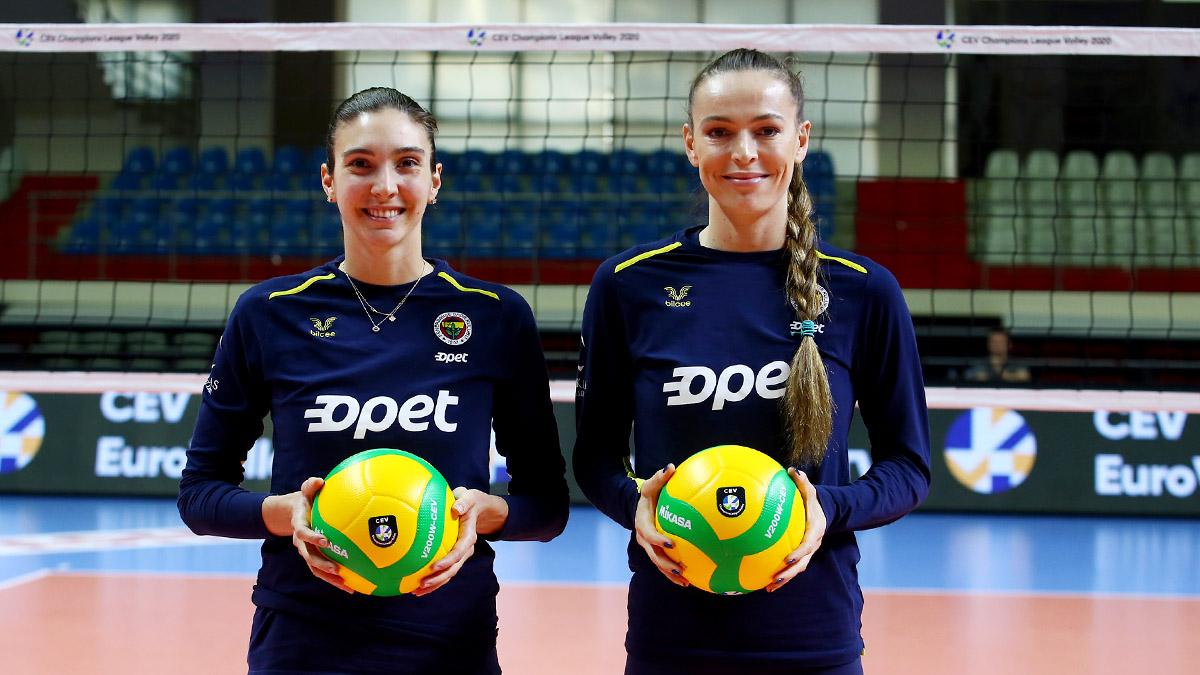 Eda Erdem Dündar ve Naz Aydemir Akyol'dan Eczacıbaşı Vitra maçı öncesi açıklamalar