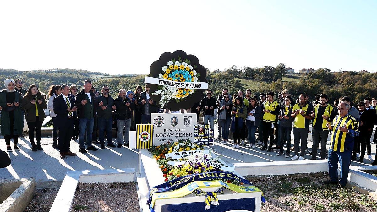 Taraftarımız Koray Şener için anma töreni düzenlendi