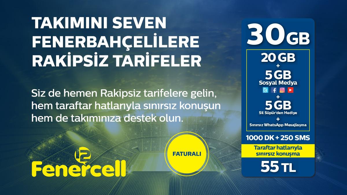 Fenercell'den Taraftara Özel Rakipsiz Tarifeler!