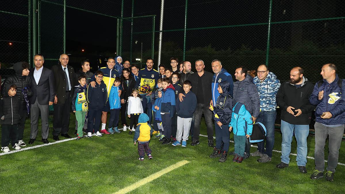 Çocuk ve Gençlik Kulübümüz Futbol Takımımızın antrenmanını ziyaret etti
