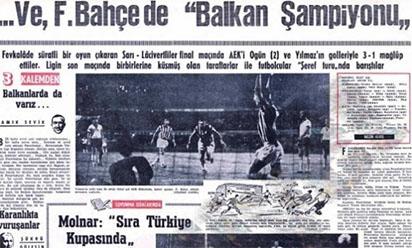 Balkan kupası şampiyonu Fenerbahçe