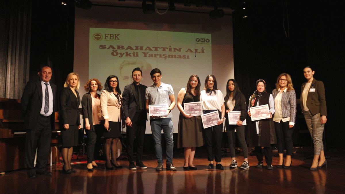 Sabahattin Ali Liseler Arası Öykü Yazma Yarışması'nın ödül töreni gerçekleşti