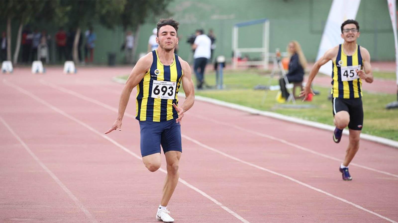 Fenerbahçeli atlet Umut Uysal 100 metrede Türkiye rekoru kırdı