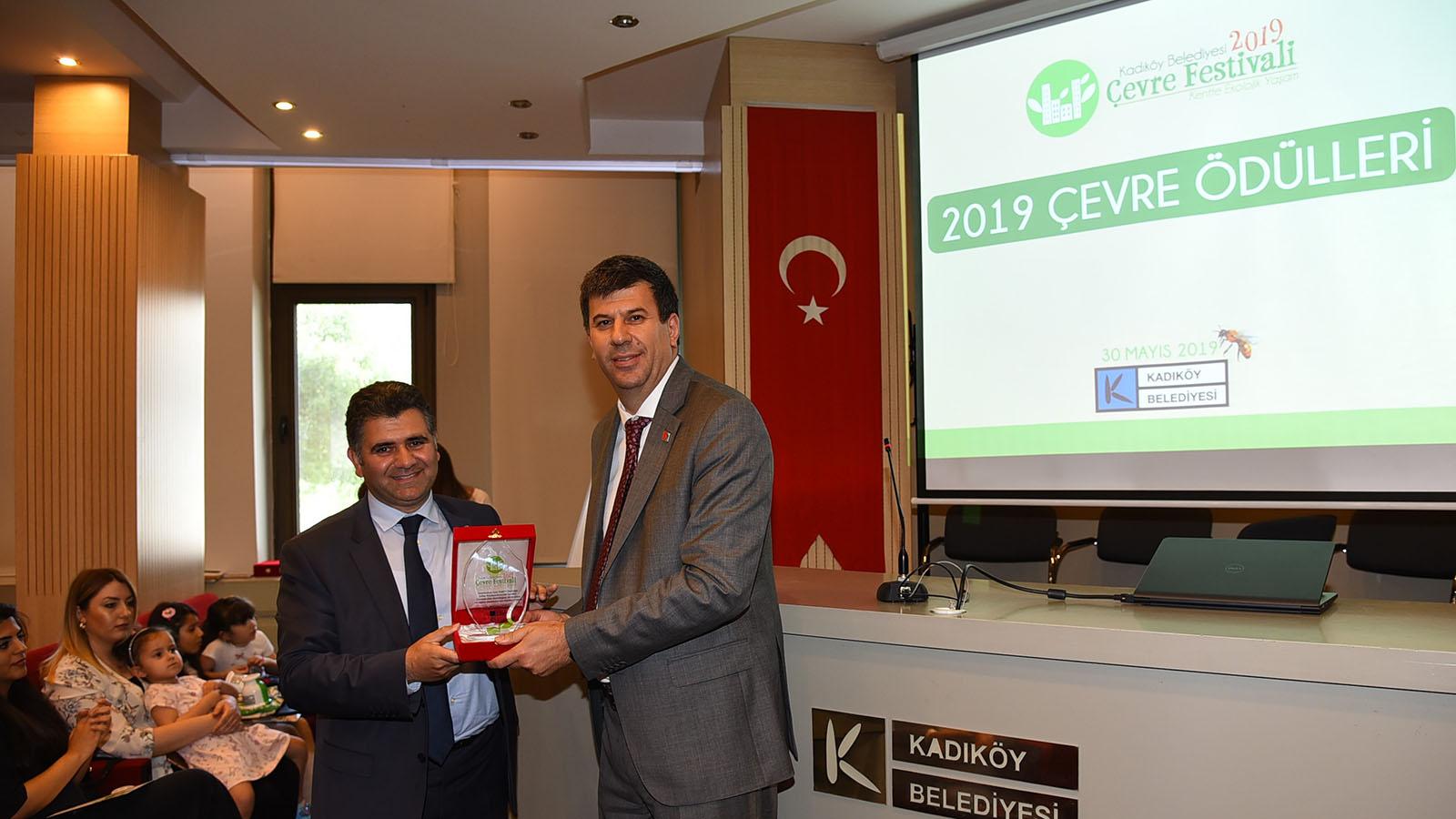 Kulübümüze Kadıköy Belediyesi'nden Çevre Ödülü