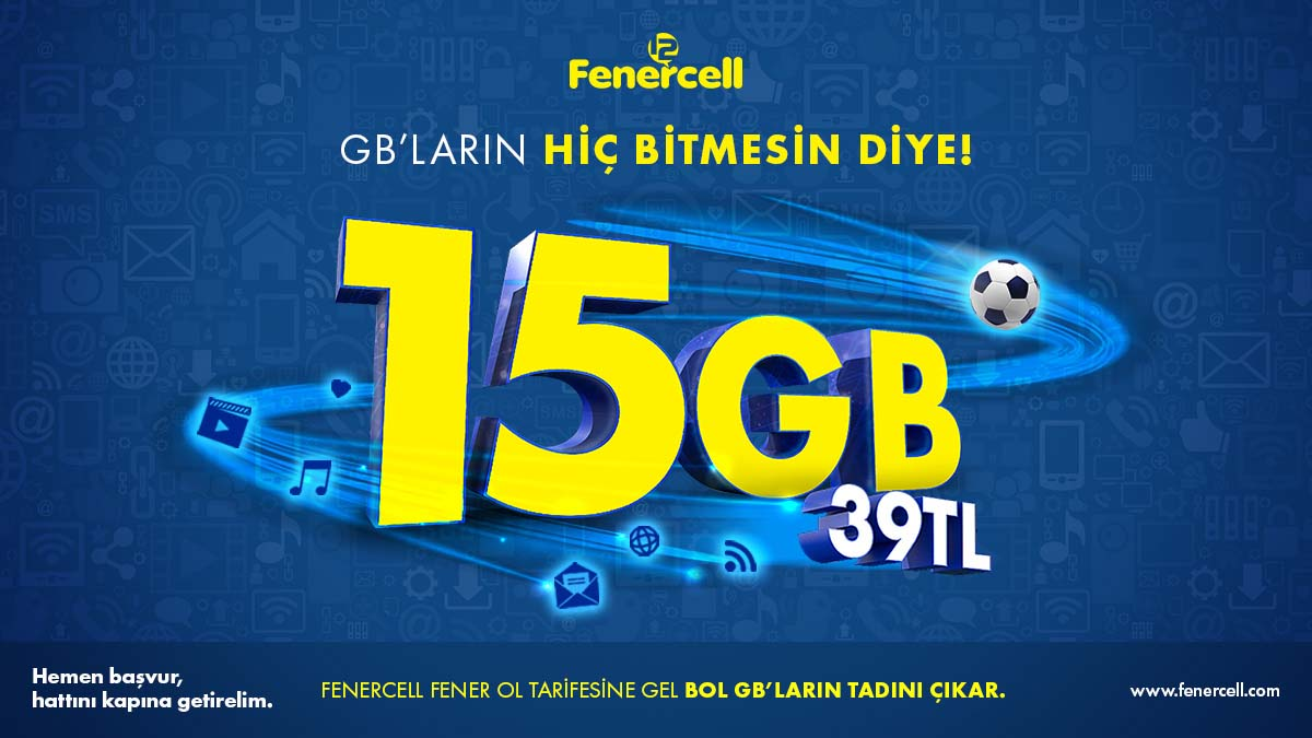 FENERCELL FENER OL TARİFESİNE GEL BOL GB'LARIN TADINI ÇIKAR!