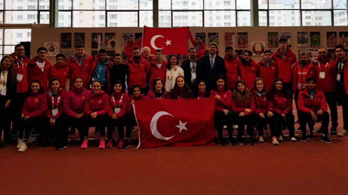 Atletlerimizden Minsk'de 6 madalya