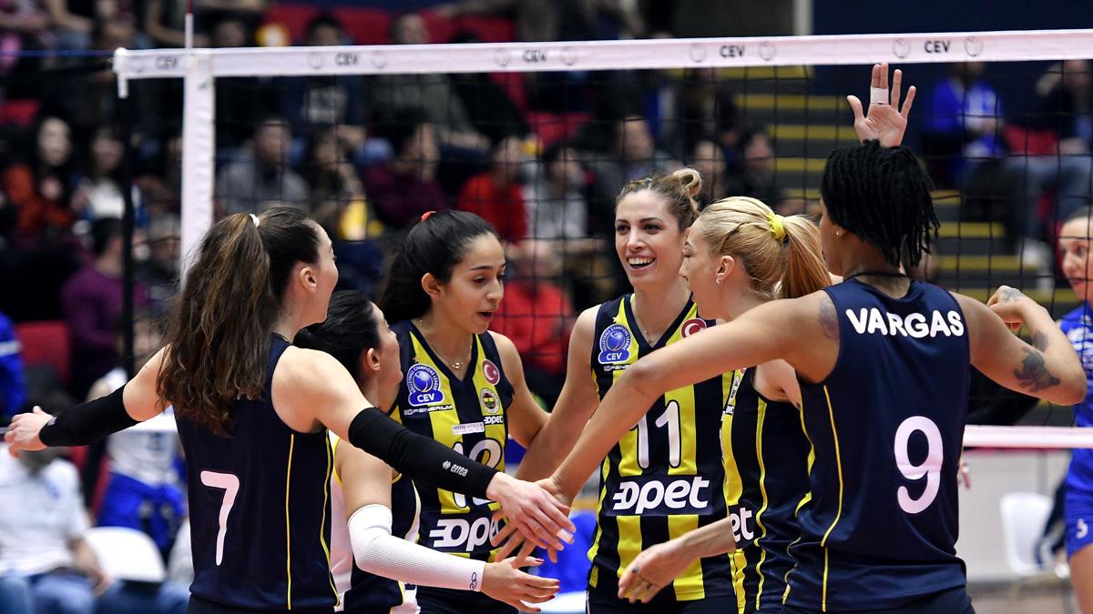 Fenerbahçe Opet CEV Kadınlar Şampiyonlar Ligi'nde çeyrek finalde