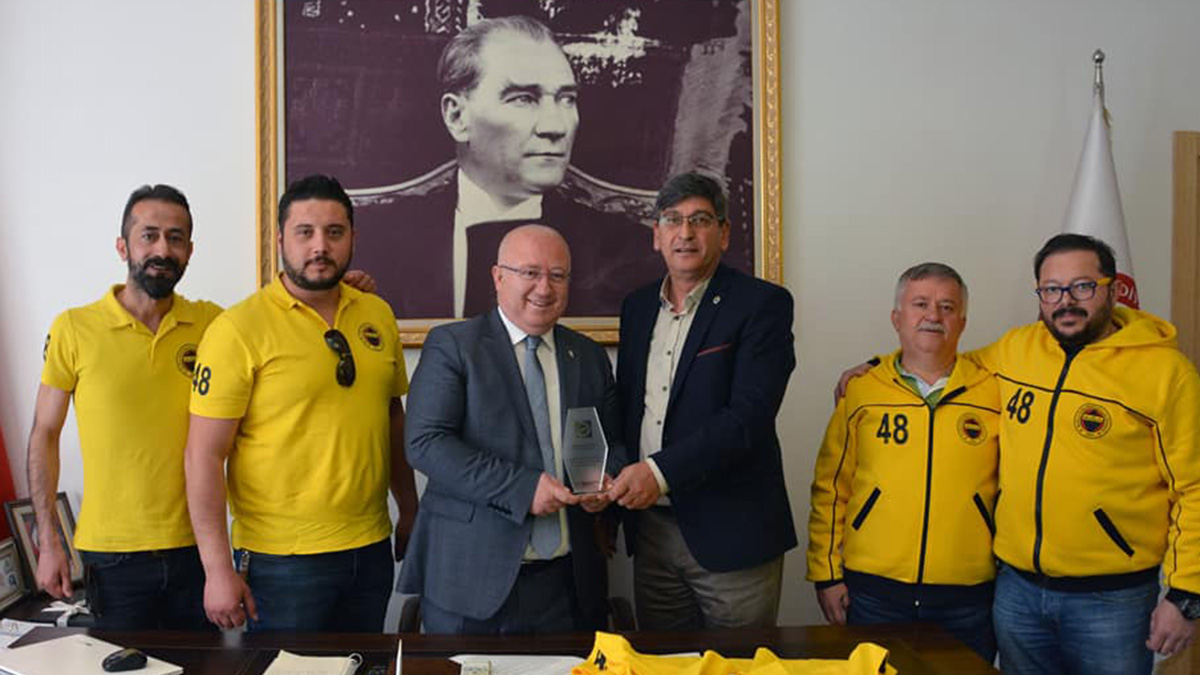 Muğla Fenerbahçeliler Derneğimizden Belediye Başkanına ziyaret