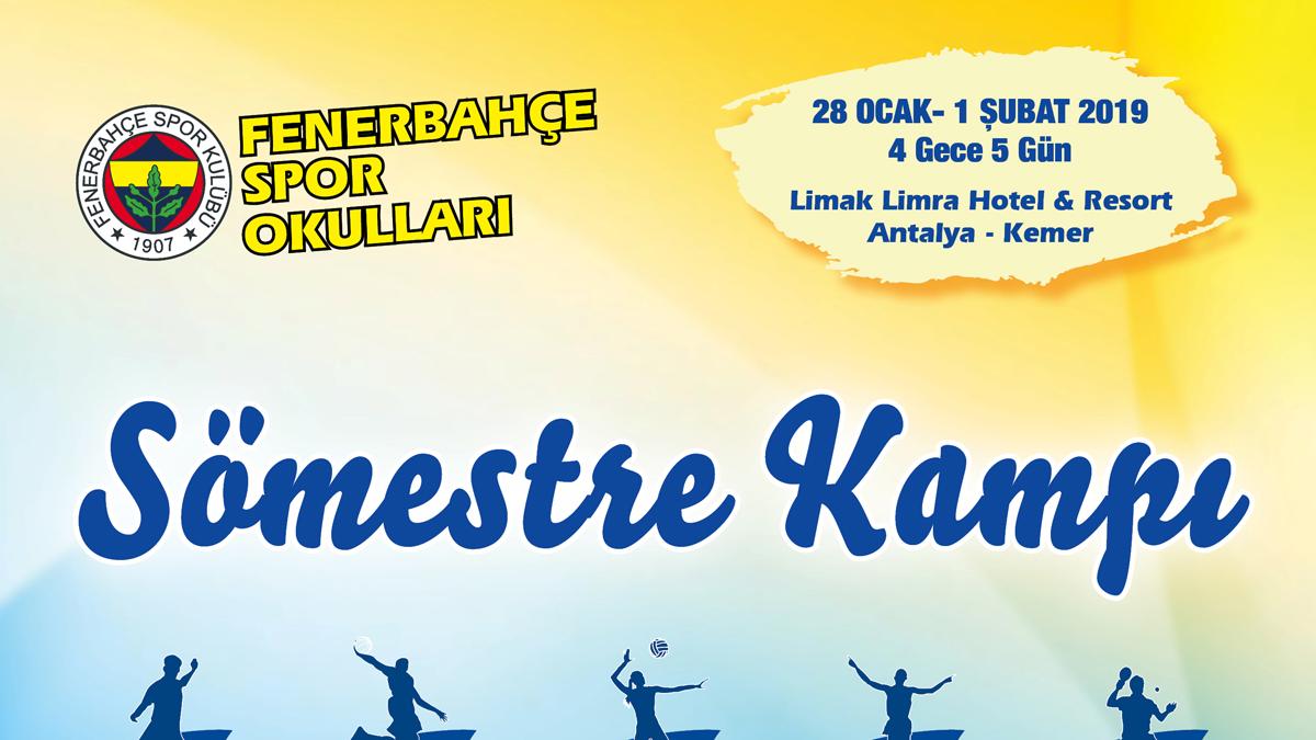 Fenerbahçe Spor Okulları Antalya Sömestre Kampı Kayıtları devam ediyor